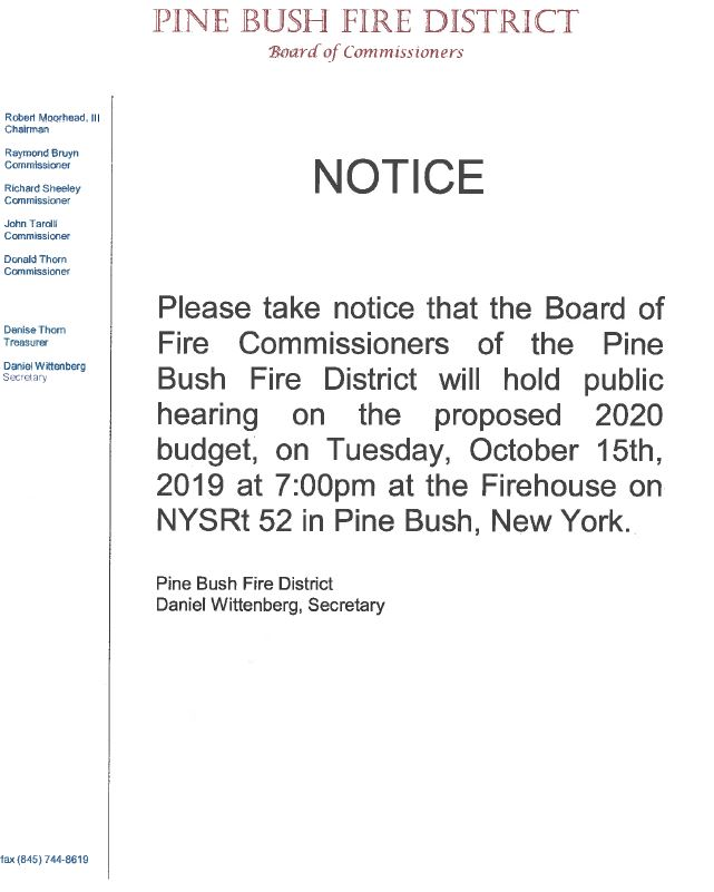 pine bush fire district proposed budget 2020.JPG